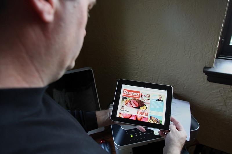 Creator of Grocio.com Gerald Buckley at his Tulsa home.