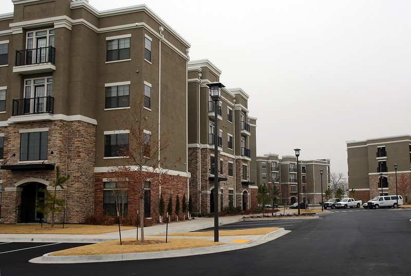 Newly completed apartments at the riverwalk in Jenks.