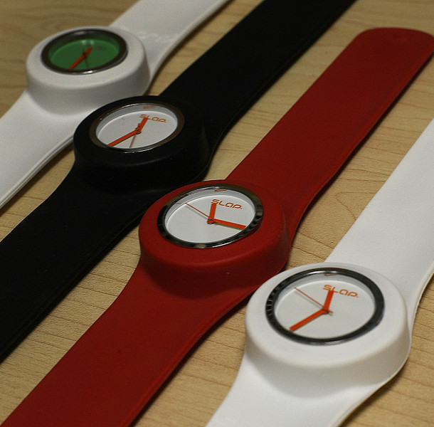 A collection of Slap Watches.