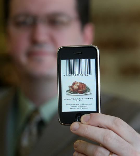 An I-Phone App developed for Petty's Fine Foods in Tulsa delivers store coupons and advertisements directly to customer's phones.