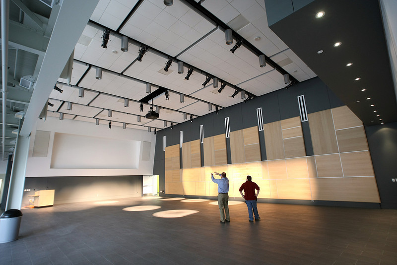 The meeting hall on the first floor of the TCC Center for Creativity in downtown Tulsa.