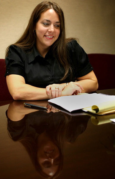 Attorney Melissa Taylor at the office of GableGotwals in Tulsa.