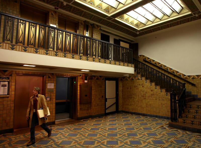 The main lobby of the Pythian Building