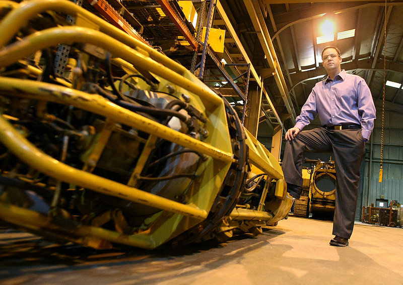 Ryan Darby, VP of Operations for Darby Equipment Company, in their West Tulsa manufacturing location.  The company plans to expand in to new larger facilities soon.