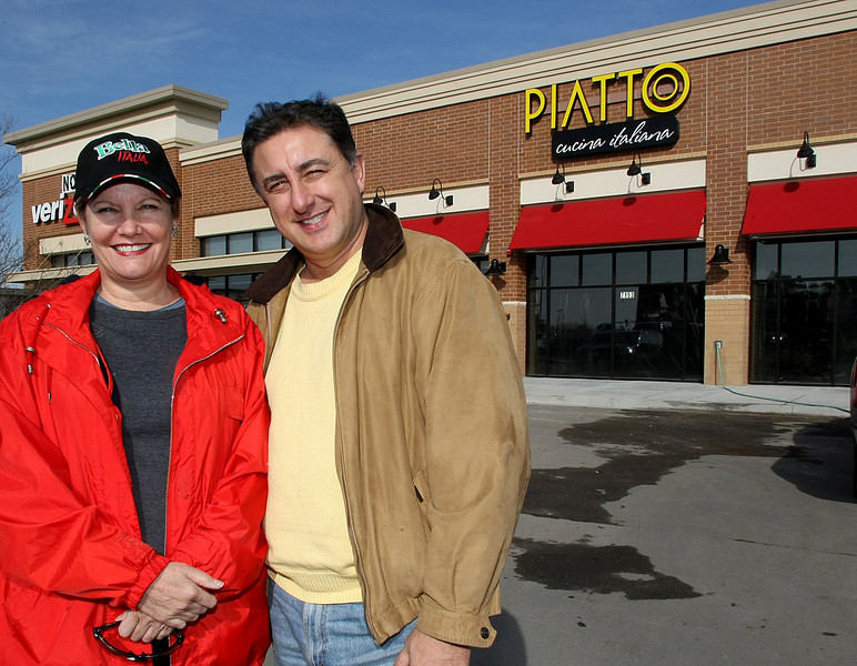 Marcia Harris and Angelo Amabile are the owners of the Piatto Cucina Italiana restaurant opening in the Tulsa Hills shopping center.