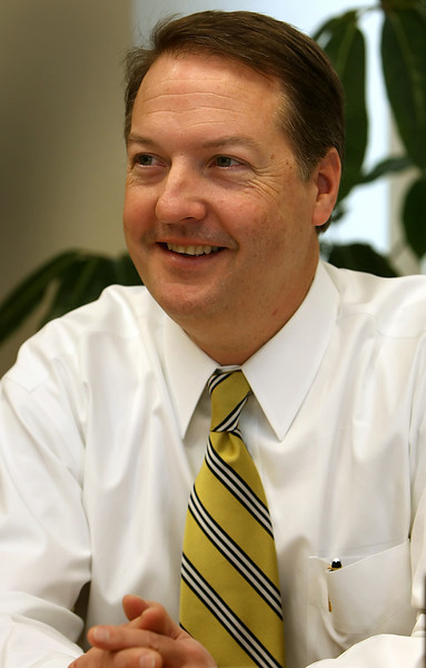 Bank of Oklahoma CFO Steven Nell in his downtown Tulsa Office.