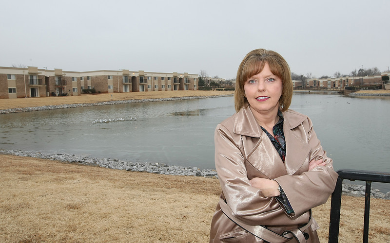 Melissa Wheeler, general manager with Isola Bella Apartments in Northwest Oklahoma City. PHOTO BY MAIKE SABOLICH