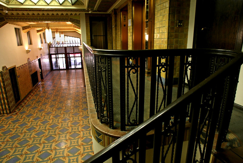 The main lobby of the Pythian Building