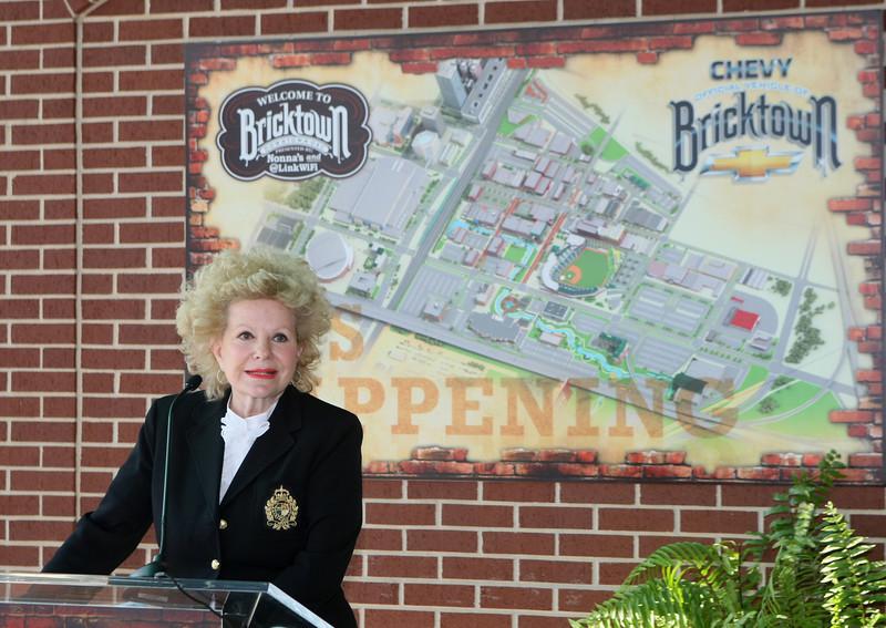 Bricktown Association President Avis Scaramucci speaks at the State of Bricktown Address Thursday. PHOTO BY MAIKE SABOLICH