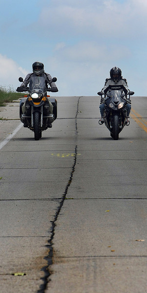 Rex Brown and Brad Mathison of Two Wheel Oklahoma ride their motorcycles on another trip to another Oklahoma destination.