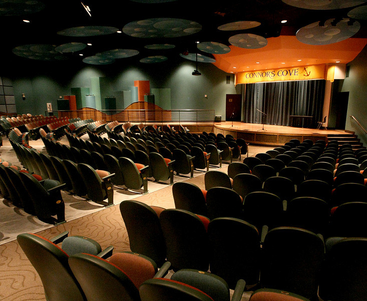The Connors Cove theatre in the Hardesty Regional Library in South Tulsa.