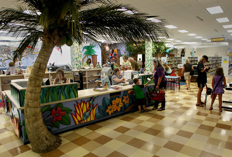 The children's section of the Hardesty Regional Library in South Tulsa.