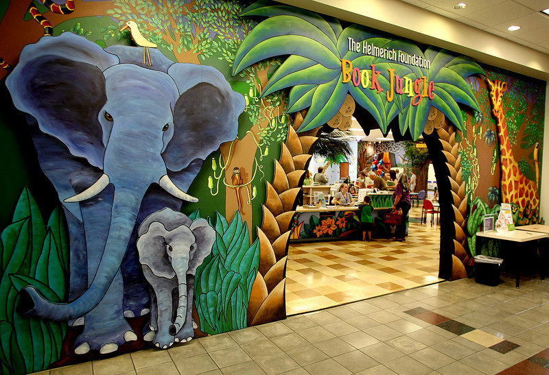 The entrance to the children's section of the Hardesty Regional Library in South Tulsa.