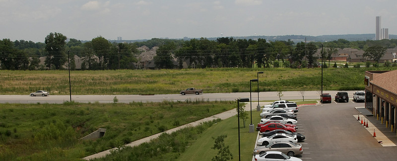 A Sam's Wholesale Club will be located on this vacant lot East of Olympia Street in the Tulsa Hills Shopping Center.
