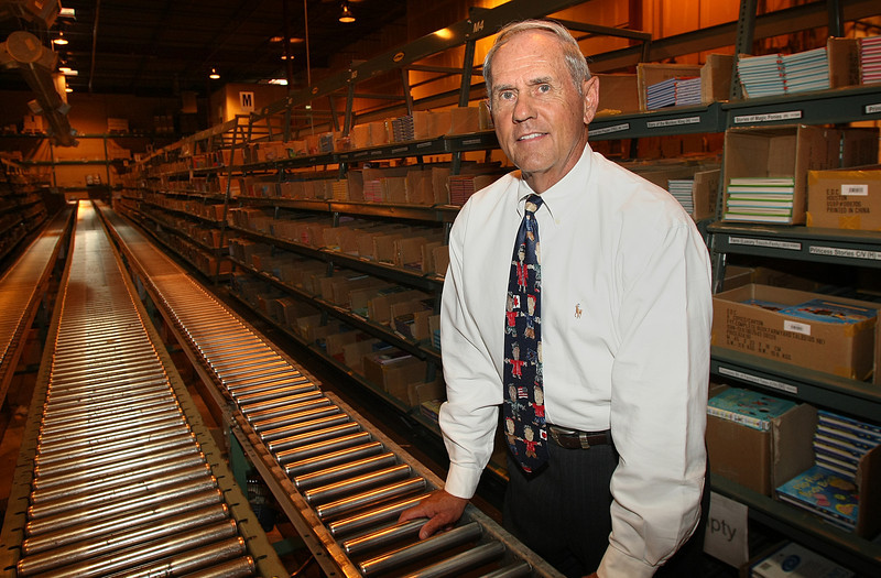 Randall White, CEO of Usborne Books and More, in the companies warehouse which houses more than 7 Million books.