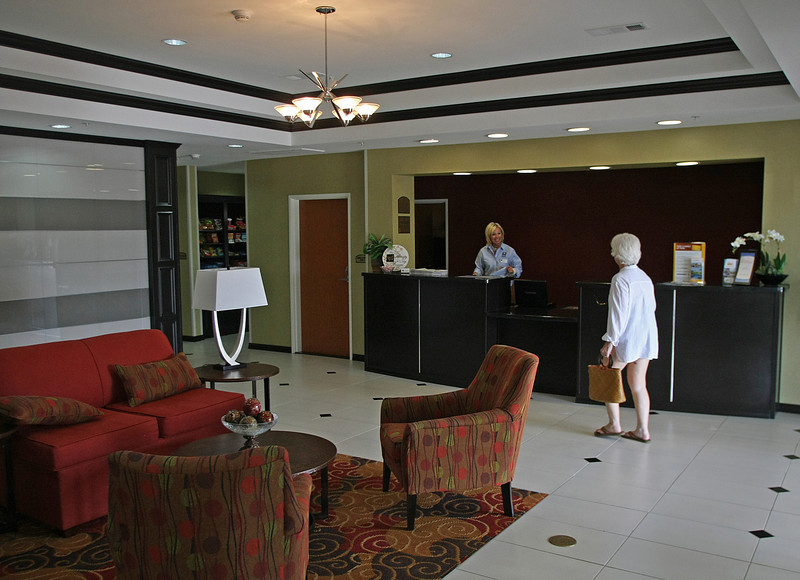 The lobby of the recently completed Comfort Inn and Suites in Glenpool.