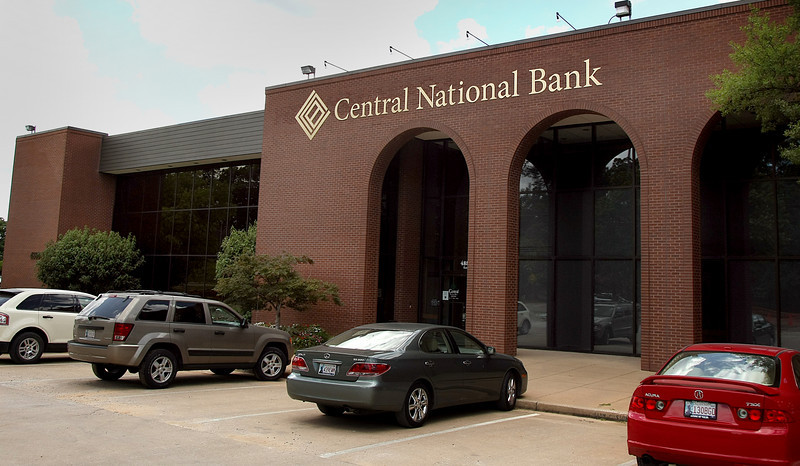 Central National Banks banks Mid-Town Tulsa location.