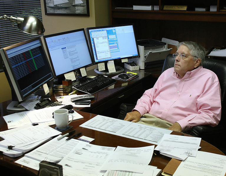 George Taubel, President of Oklahoma Energy Services, at South Tulsa office.