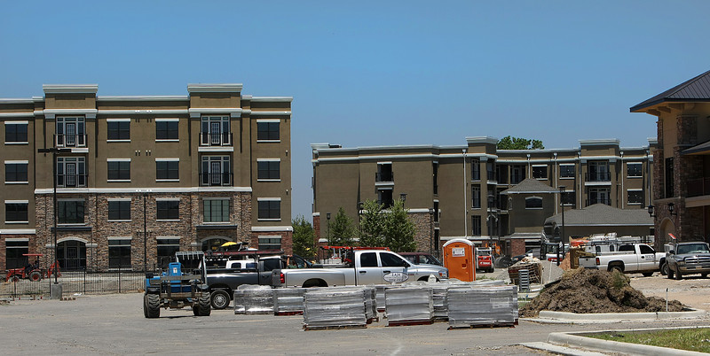 While developers work on plans to build several apartment complexes around Tulsa, the RiverWalk Apartments in Jenks represents one of the few to materialize during this recession.