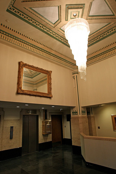 The main lobby of the Transok Building at the corner of Sixth and Main in downtown Tulsa.