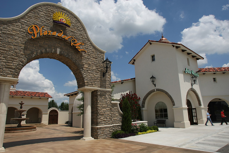 Customers leave the Senior Tequila restaurant at the Plaza Del Sol Shopping center in South Tulsa.