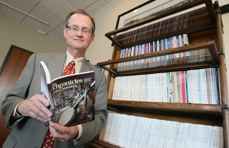 Dr. Bob Blackburn was the editor of the Chronicles of Oklahoma from 1979-1999. PHOTO BY MAIKE SABOLICH