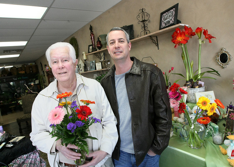 Father and son Jack and Kent Whitnah at Capitol Hill Florist and Gifts new location at 11804 SW May Ave. PHOTO BY MAIKE SABOLICH
