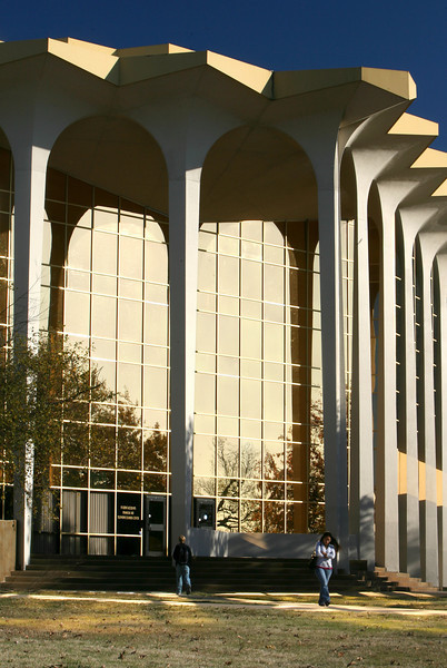 Oral Roberts University students walk across campus