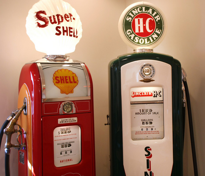 Replica gasoline pumps are manufactured at the Gasoline Alley in Broken Arrow.