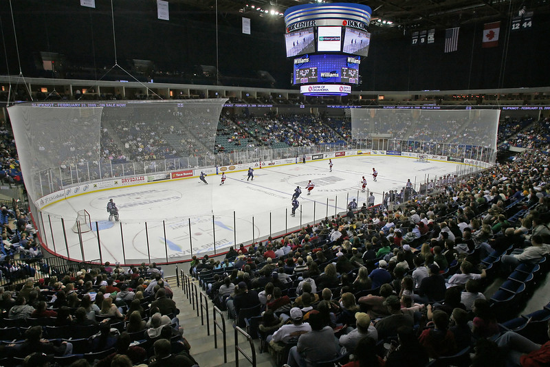 Tulsa Oiler hockey fans watch a recent game against the OKC Blazers in the BOK Center in Tulsa.