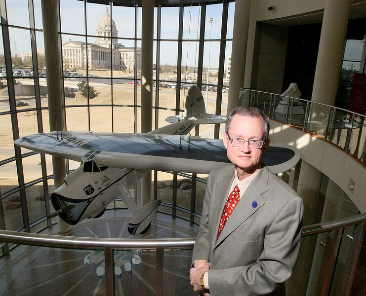 Dr. Bob Blackburn at the Oklahoma History Center. PHOTO BY MAIKE SABOLICH