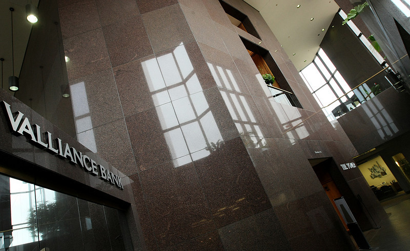 Lobby at Valliance Bank Tower. PHOTO BY MAIKE SABOLICH