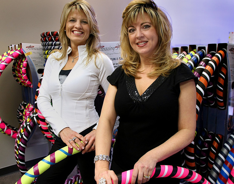 Amber Munoz and Margie Sweet, Co-founders of Amazing Hoops, at their Tulsa store.