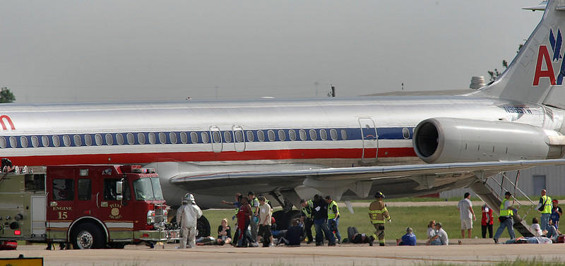 Emergency response agencies participated in a live training exercise at Tulsa International Airport.  The training simulated an aircraft crash and the corresponding response of all agencies.