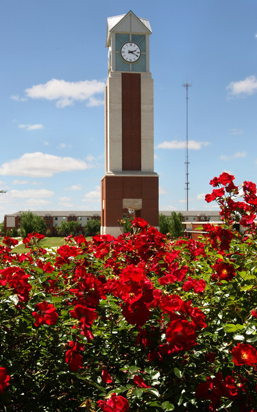 The Freede Centennial Tower at Oklahoma Christian University. PHOTO BY MAIKE SABOLICH