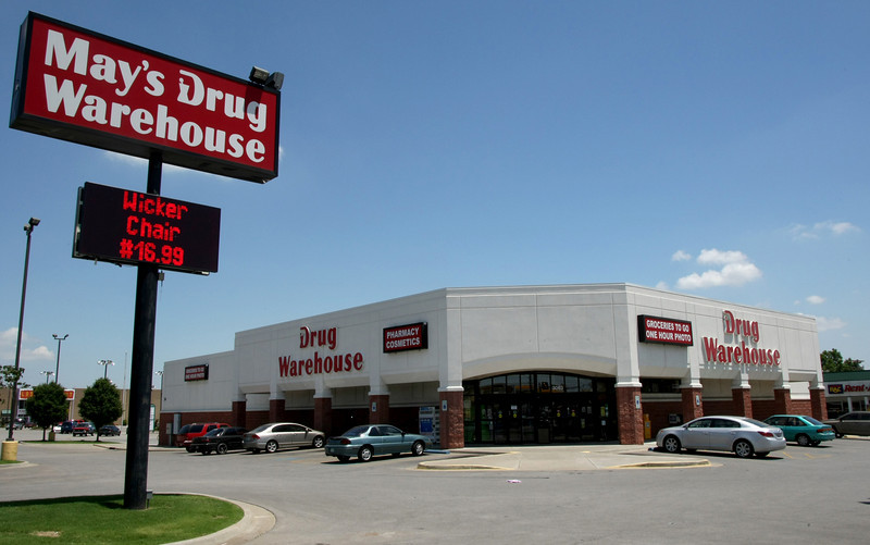 The Mays Drug Warehouse at the corner of 31st & Sheridan in Tulsa.