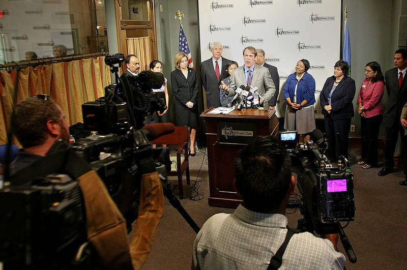 The Oklahoma Deputy Director of the ACLU, C.S. Thornton, urged Oklahomans to stand against more controversial immigration law restrictions during a press conference in Tulsa.
