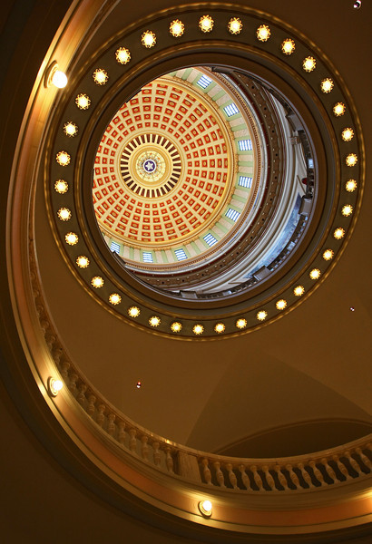 Dome at the State Capitol on the last day of session. PHOTO BY MAIKE SABOLICH