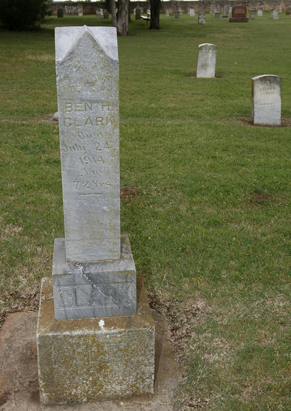 Grave stone of Ben Clark at Fort Reno military cemetary. PHOTO BY MAIKE SABOLICH