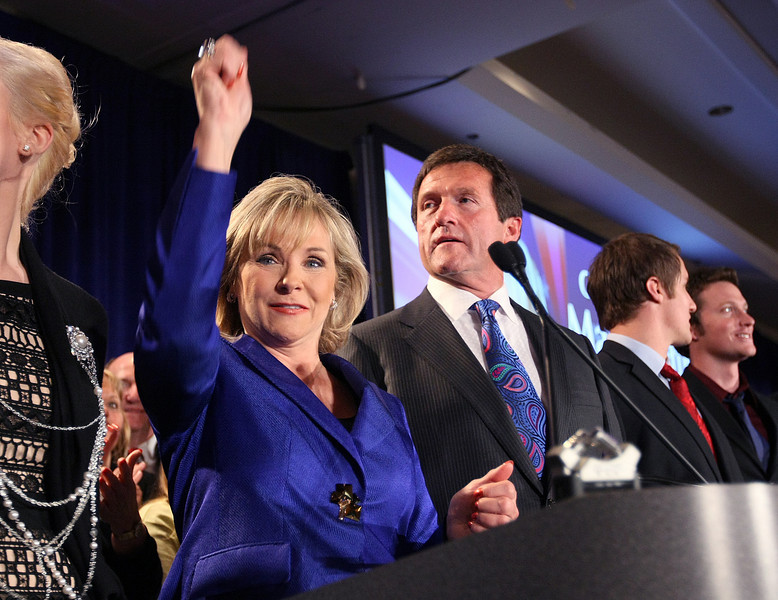 Governor-elect Mary Fallin at the Republican election watch party at the Mariott Tuesday. FILE PHOTO BY MAIKE SABOLICH