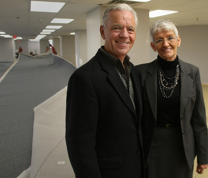Bill Barman and his Wife Kathy in one of two a floors of the Cityplex building in Tulsa being readied for CFS 2 to occupy.