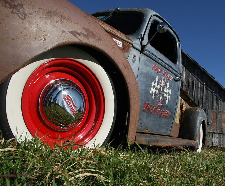 Mike Jones's newly completed Rat Rod from the Fat Boy Speed Shop in Broken Arrow.