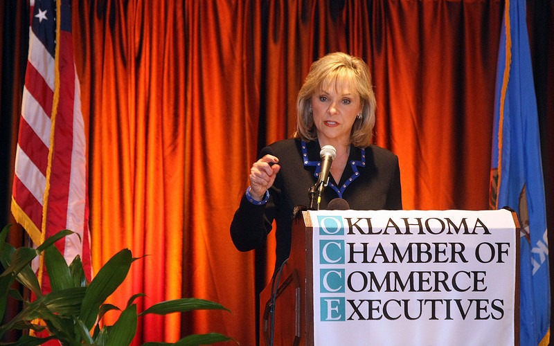 Governor-elect Mary Fallin gives her first public speech since election night to the State Chamber Thursdasy at the Sheraton Hotel downtown. PHOTO BY MAIKE SABOLICH