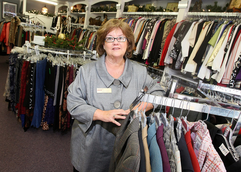 Cindy Reynolds with the YMCA's Our Sister's Closet in Edmond. PHOTO BY MAIKE SABOLICH