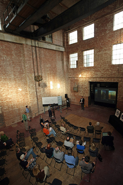 Founder and CEO of the Spring Loaded Brewery, announced during a press conference held inside the old Sand Springs Electrical generation plant that will house the new brewery and restaurant his company is going to build.