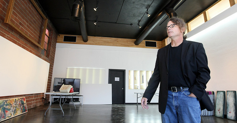 Stephen Kovash, Istvan Gallery owner, shows his new gallery space at Urban Art in the plaza District. PHOTO BY MAIKE SABOLICH