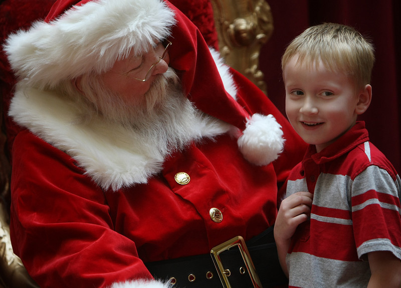 While at the getting in some holiday shopping with his mom at Promenade Mall in Tulsa Joseph stopped in to visit Santa.