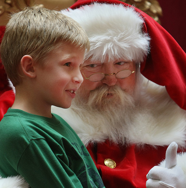 While at the getting in some holiday shopping with his mom at Promenade Mall in Tulsa Trent stopped in to visit Santa.
