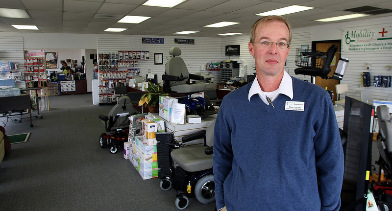 Tom Glenn, Customer Service Manager of the Mobility Plus branch in Tulsa.  The Muskogee based company was just purchased by the Cherokee Nation Businesses.