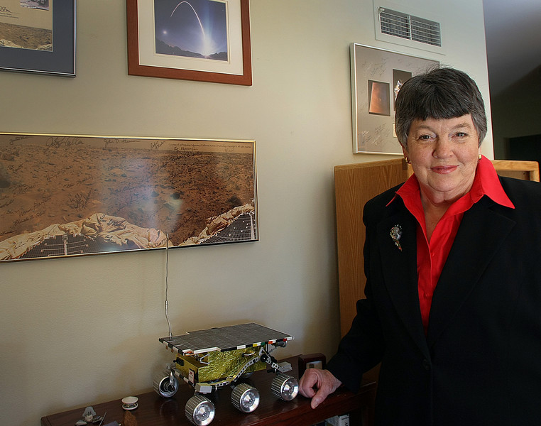 Donna Shirley at her Tulsa home. Shirley was a pioneer in the United States' space exploration, managing the Mars Exploration Program in the 1990s and was instrumental in putting Pathfinder, Sojourner and other probes into space.